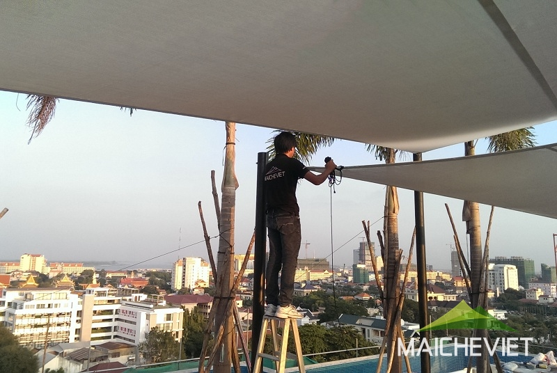 Thiết kế và thi công mái che Phnom Pênh Campuchia