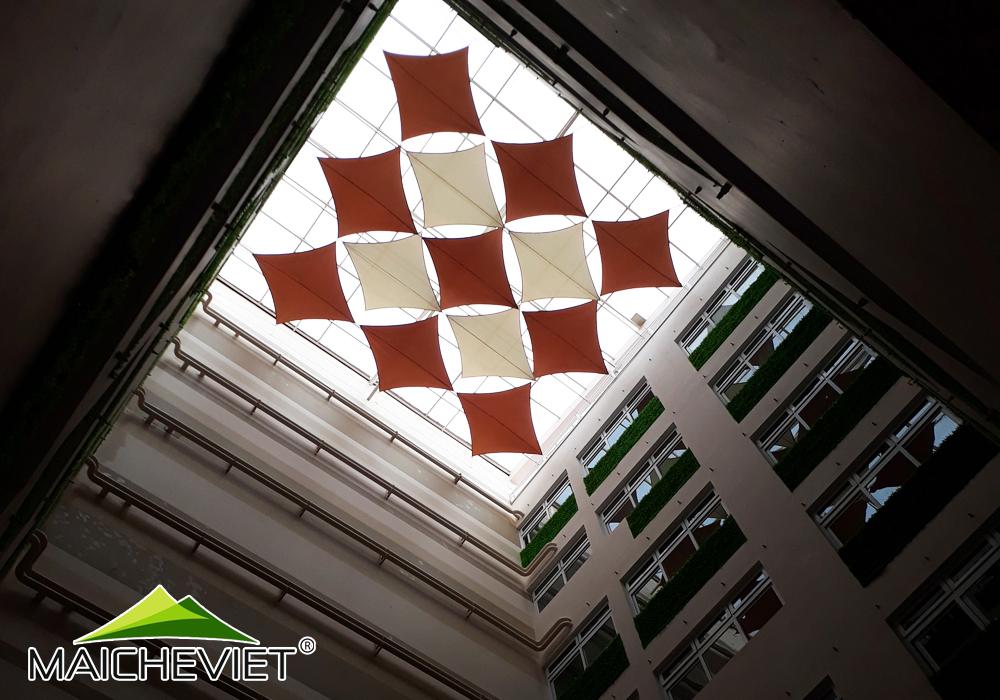 Thiết kế và thi công mái che giếng trời tại bệnh viện phụ sản quốc tế Đức Giang